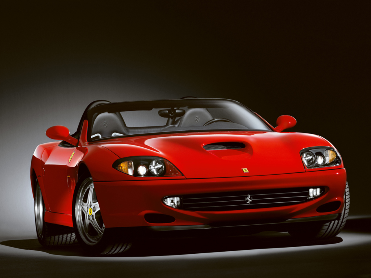 550 Barchetta Pininfarina: 3/4 front view