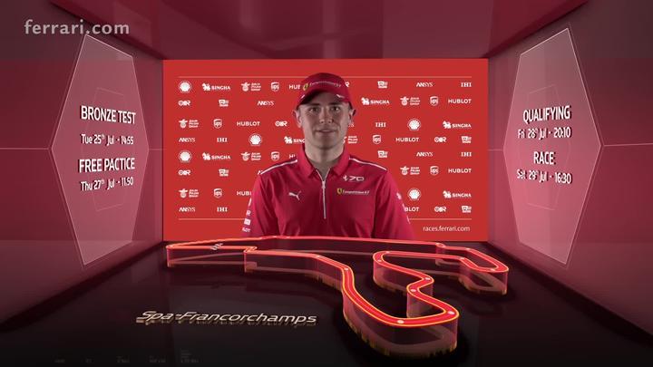 Blancpain Endurance Cup - Rigon introducing Spa Circuit