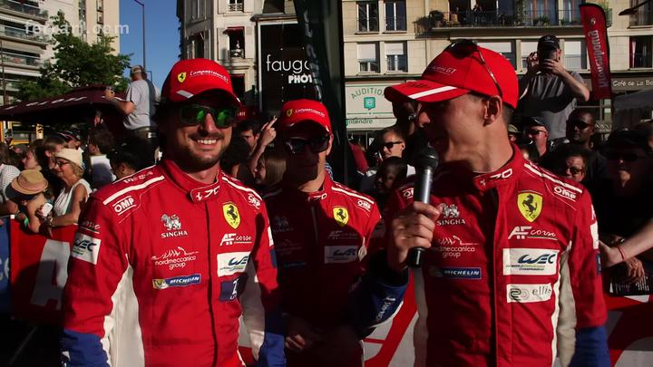 Ferrari drivers stars of Le Mans Friday's parade