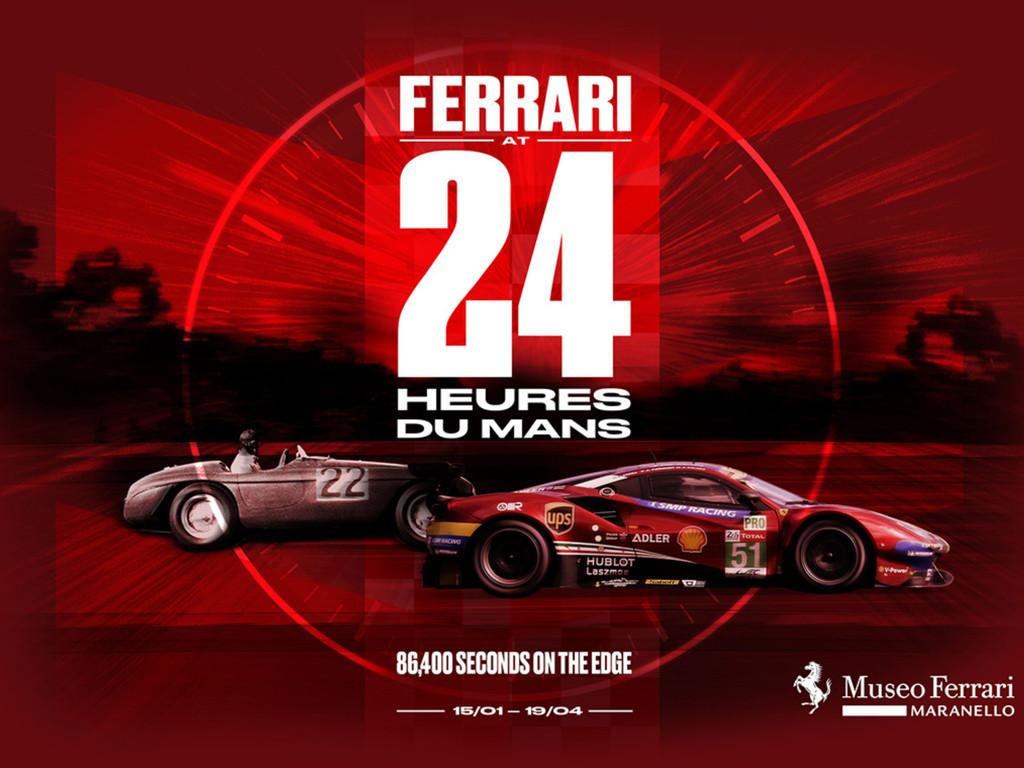 """Ospiti d'onore per il taglio del nastro della  """"Ferrari at 24 Heures du Mans"""""""