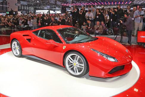 The Ferrari 488 GTB debuts in starry company