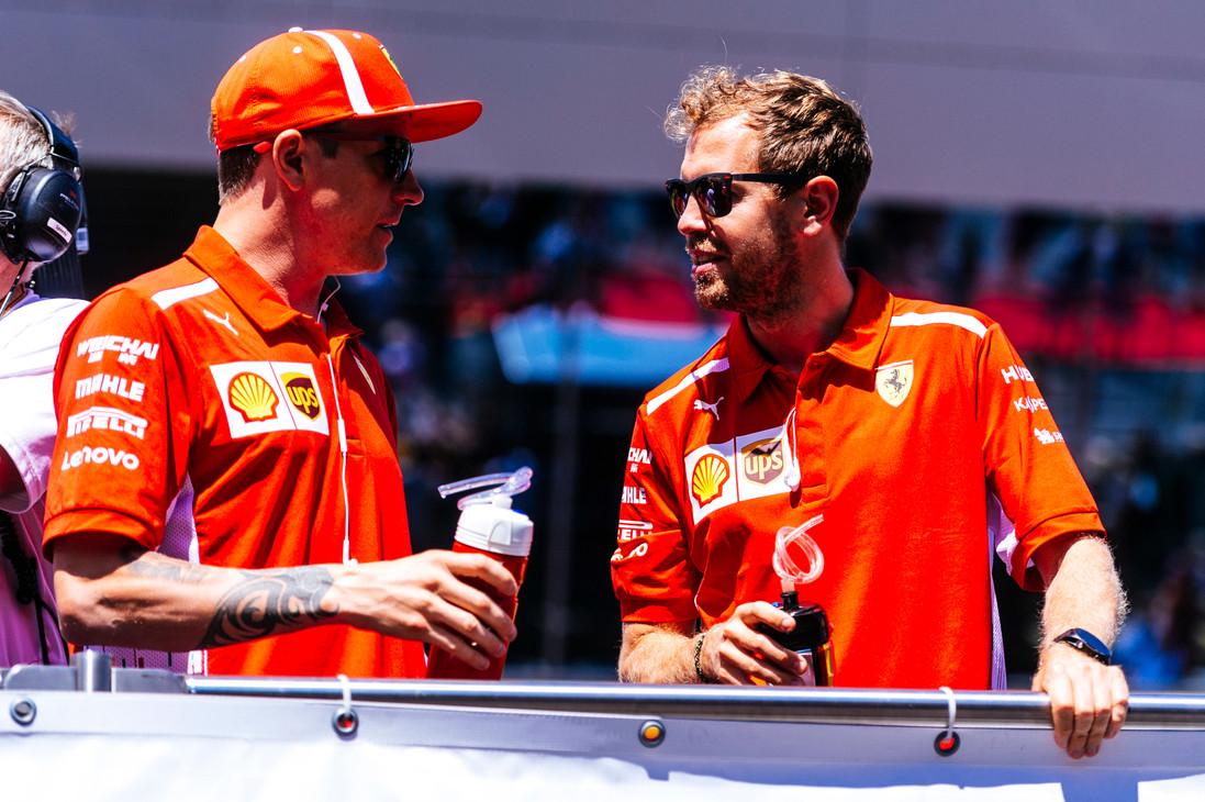 GP d'Austria 2018 - Domenica - Spielberg, Austria - Kimi Raikkonen, Sebastian Vettel - Gara