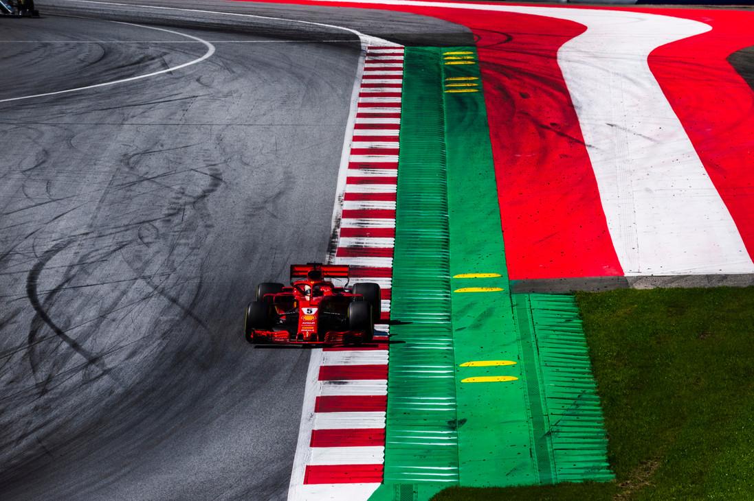 GP d'Austria 2018 - Domenica - Spielberg, Austria - Sebastian Vettel - Gara