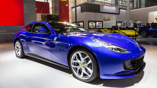 The first V8 four-seater Ferrari GTC4Lusso T makes debut in China.