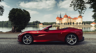The Ferrari Portofino Roadshow leaves Germany for the Czech Republic